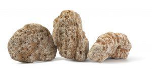 Travertínové kamene ukazujúce jeho úžasnú štruktúru